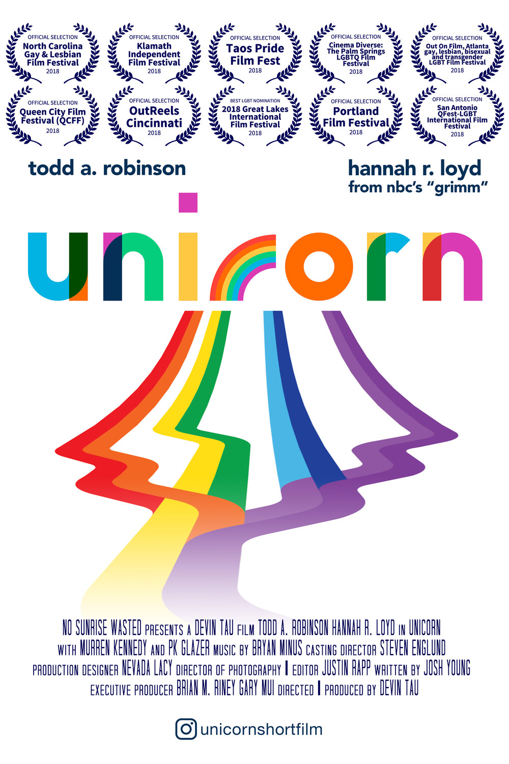 Poster for the short film Unicorn.