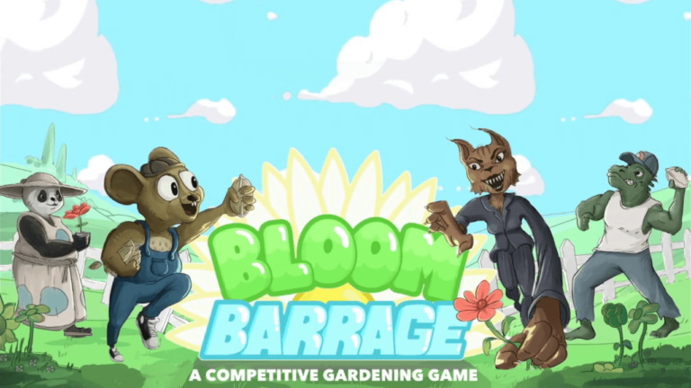 Title screen for the mobile game Bloom Barrage