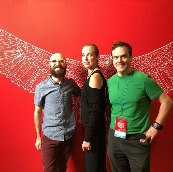 Music supervisor Joseph Miller, composer Bryan Minus, and composer Brian Sussman at the 2018 Portland Film Festival