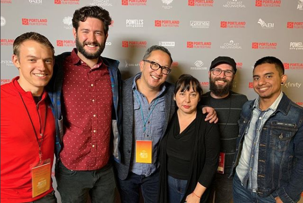 Some of the cast and crew of Unicorn at the 2018 Portland Film Festival