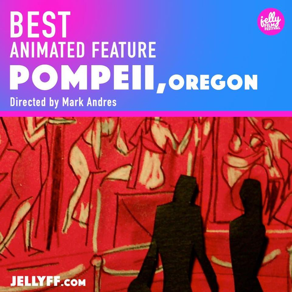 Pompeii, won best animated featurea at Jelly Fest.