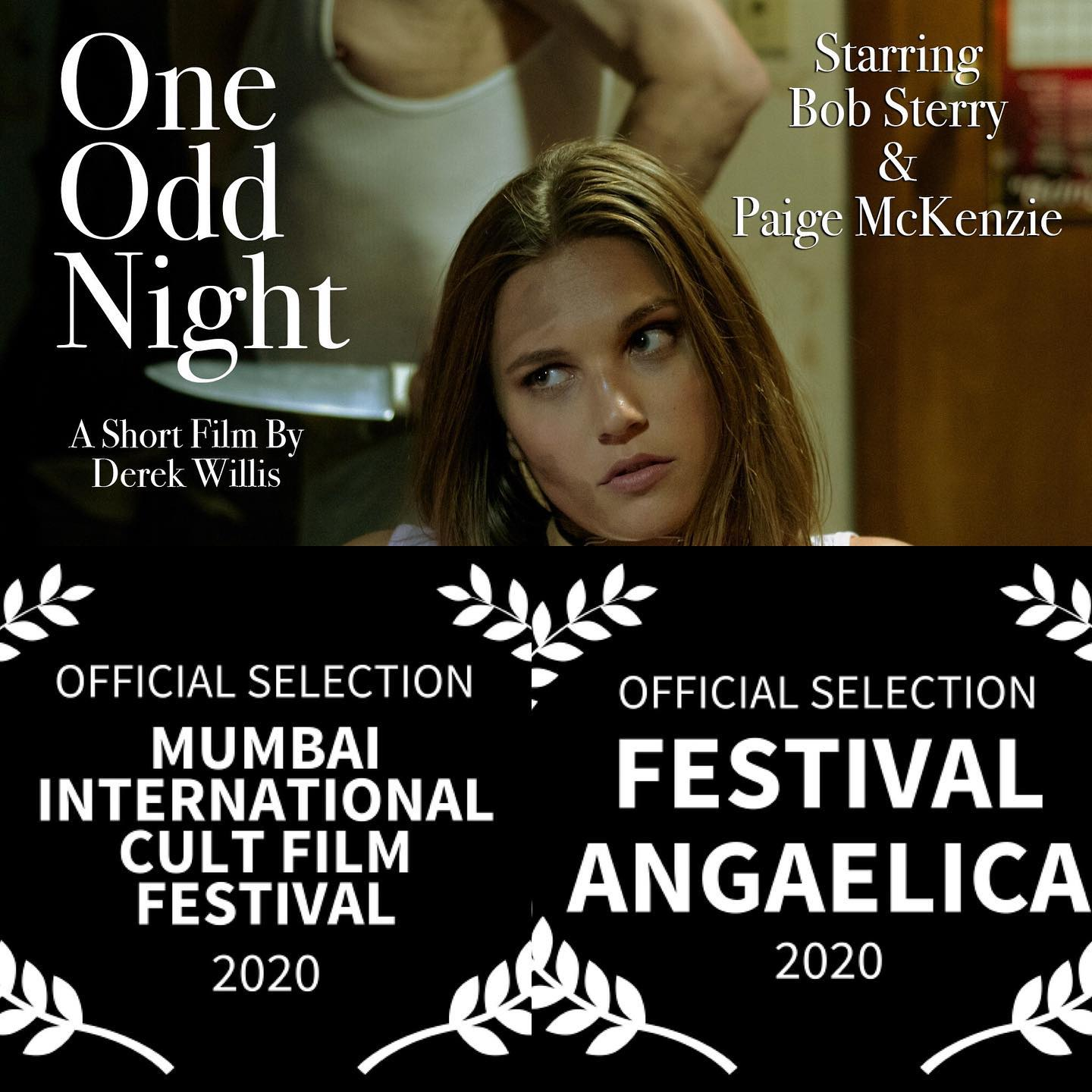 Laurels for the short film One Odd Night.