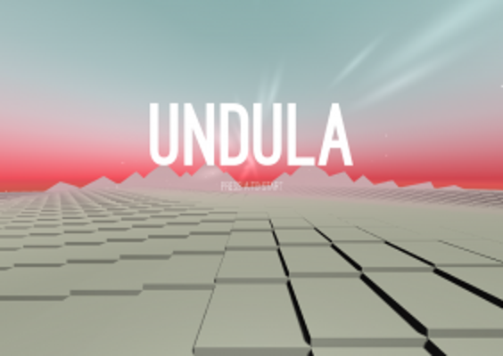 Screen shot of the title page of the VR game Undula